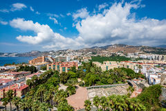 Panoramic view of Almuñécar Almunecar on a beautiful day Stock Photography