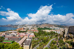 Panoramic view of Almuñécar Almunecar on a beautiful day Stock Image