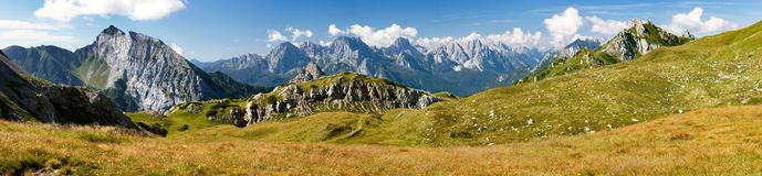 Panoramic view of Alpi Dolomiti Stock Photography