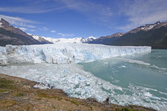 Panoramic View of an Alpine Glacier Royalty Free Stock Photo