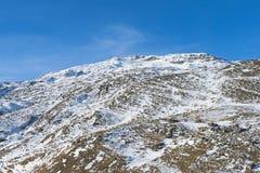 Panoramic view of an alpine mountainside Stock Photo