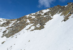 Panoramic view of an alpine mountainside Stock Images