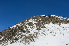 Panoramic view of an alpine mountainside Royalty Free Stock Photo