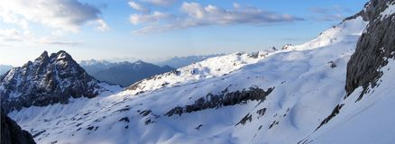 Panoramic view of an alpine ridge Stock Photo
