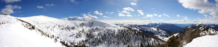 Panoramic view of Alps Royalty Free Stock Photos
