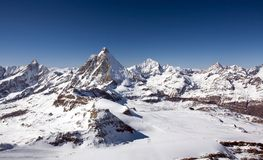 Panoramic view of Alps in Bernese Oberland region Stock Photography