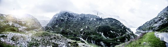 Panoramic View in the Alps royalty free stock image