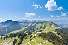 Panoramic view on the Alps mountains Royalty Free Stock Photo