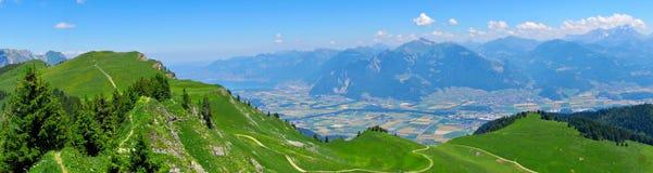 Panoramic view - Alps Mountains Stock Image