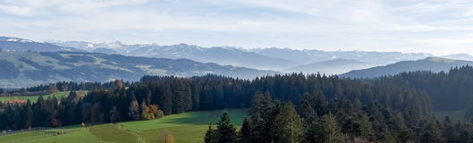 Panoramic view of the Alps Stock Photos