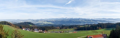 Panoramic view of the Alps Royalty Free Stock Photo