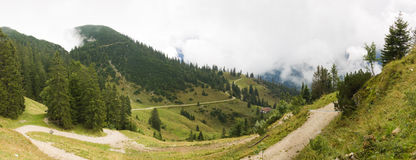 Panoramic view in Alps at summer Stock Photography