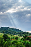 Panoramic view of Alsace mountains Stock Photo