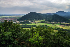 Panoramic view of Alsace mountains Royalty Free Stock Photography