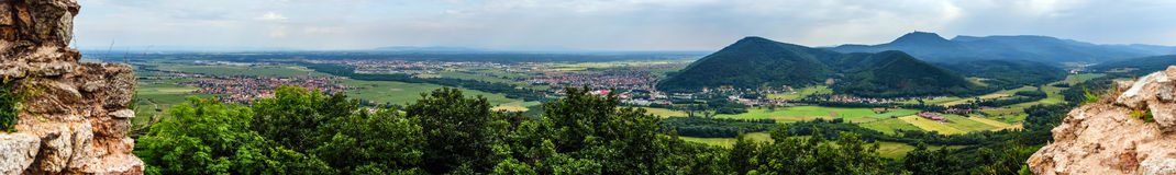 Panoramic view of Alsace mountains Stock Photography