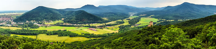 Panoramic view of Alsace mountains Stock Photos