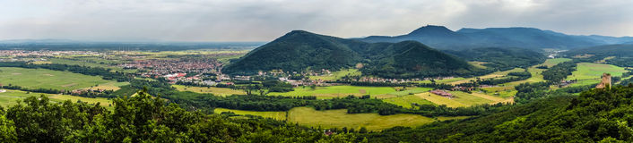 Panoramic view of Alsace mountains Royalty Free Stock Image