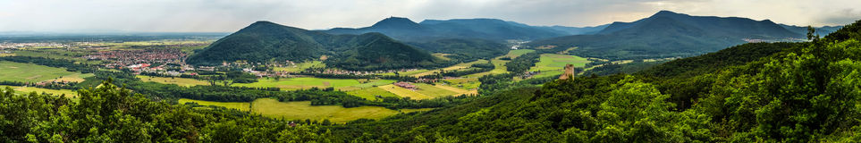 Panoramic view of Alsace mountains Stock Images