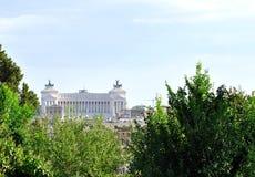 Panoramic view of the Altare della Patria in Rome Royalty Free Stock Image