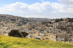 Panoramic view of Amman from the old citadel Royalty Free Stock Photography