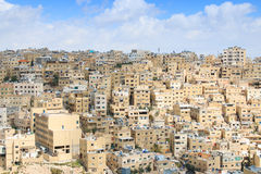 Panoramic view of Amman from one of the hills sorrounding the city Royalty Free Stock Photos
