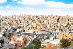 Panoramic view of Amnan , Jordan Stock Photos