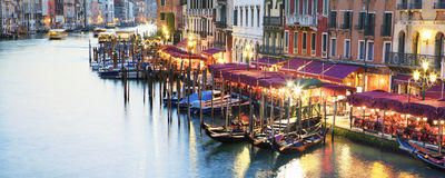Panoramic view of amous Grand Canal Royalty Free Stock Photo