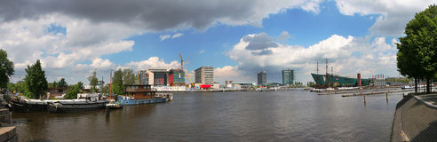 Panoramic view on Amsterdam. royalty free stock photo