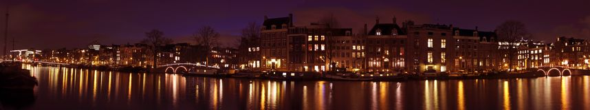 Panoramic view from Amsterdam Netherlands Stock Photo