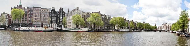 Panoramic view from Amsterdam Netherlands Stock Images