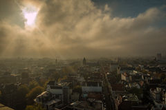 Panoramic view of Amsterdam in Netherlands Stock Photos