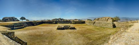 Panoramic view of and ancient archeological site in Mexico royalty free stock photos