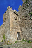 Panoramic view of ancient fortres tower of Erice town Sicily Ita Stock Photography