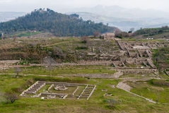 Panoramic view of the ancient greek city of Morgantina, in Sicily Royalty Free Stock Photo