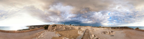 Panoramic view of ancient Kourion Stock Images