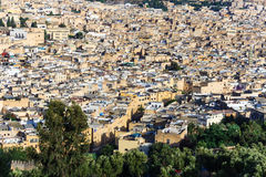 Panoramic view of ancient royal city of Fes, Morocco Royalty Free Stock Photo