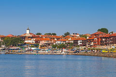 Panoramic view of ancient town on the coast. Nessebar, Bulgaria Stock Photos