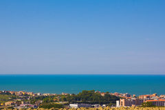 Panoramic view of the Ancona sea Stock Images
