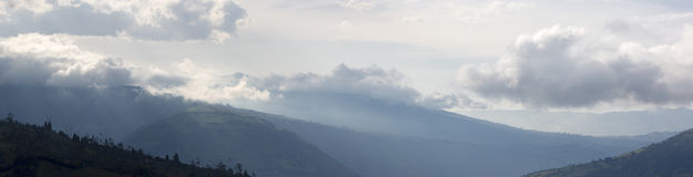 Panoramic view of the Andes in Banos, Ecuador Stock Photography