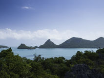 Panoramic view of Angthong Island, Tropical Marine Park in Thail Stock Photography