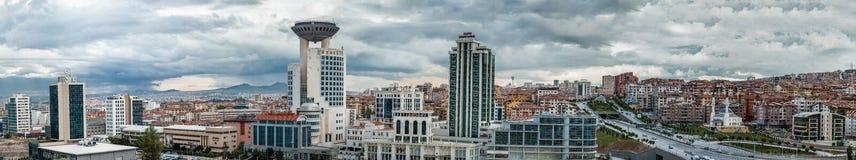 Panoramic view of Ankara city Stock Photos