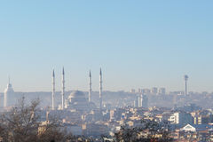 Panoramic view of Ankara, Turkey Royalty Free Stock Images