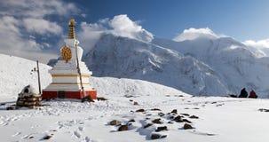 Panoramic view of Annapurna range Royalty Free Stock Photo