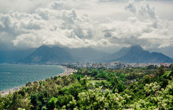 Panoramic view of Antalya city Royalty Free Stock Image