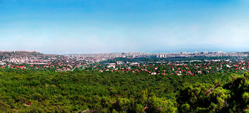 Panoramic view of Antalya, Turkey. Panoramic view of Kepez district in Antalya, Turkey stock photos