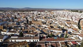 Panoramic view of Antequera city, Andalusia, Spain. Panoramic view of Antequera city, Province of Malaga, Andalusia, Spain. One of the most beautiful `White stock footage