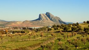 Panoramic view from Antequera -Malaga-Andalusia Spain Royalty Free Stock Photo