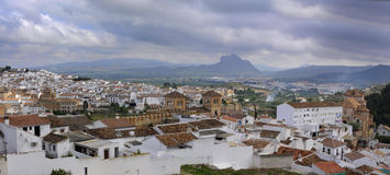 Panoramic view of Antequera, Spain Stock Images