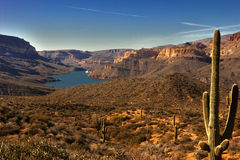 Panoramic view of Apache Lake Stock Image