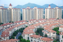 Panoramic view of the apartments Stock Photography